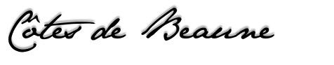 Côte de Beaune - ecriture