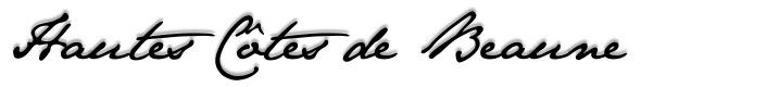 Hautes Côte de Beaune - ecriture