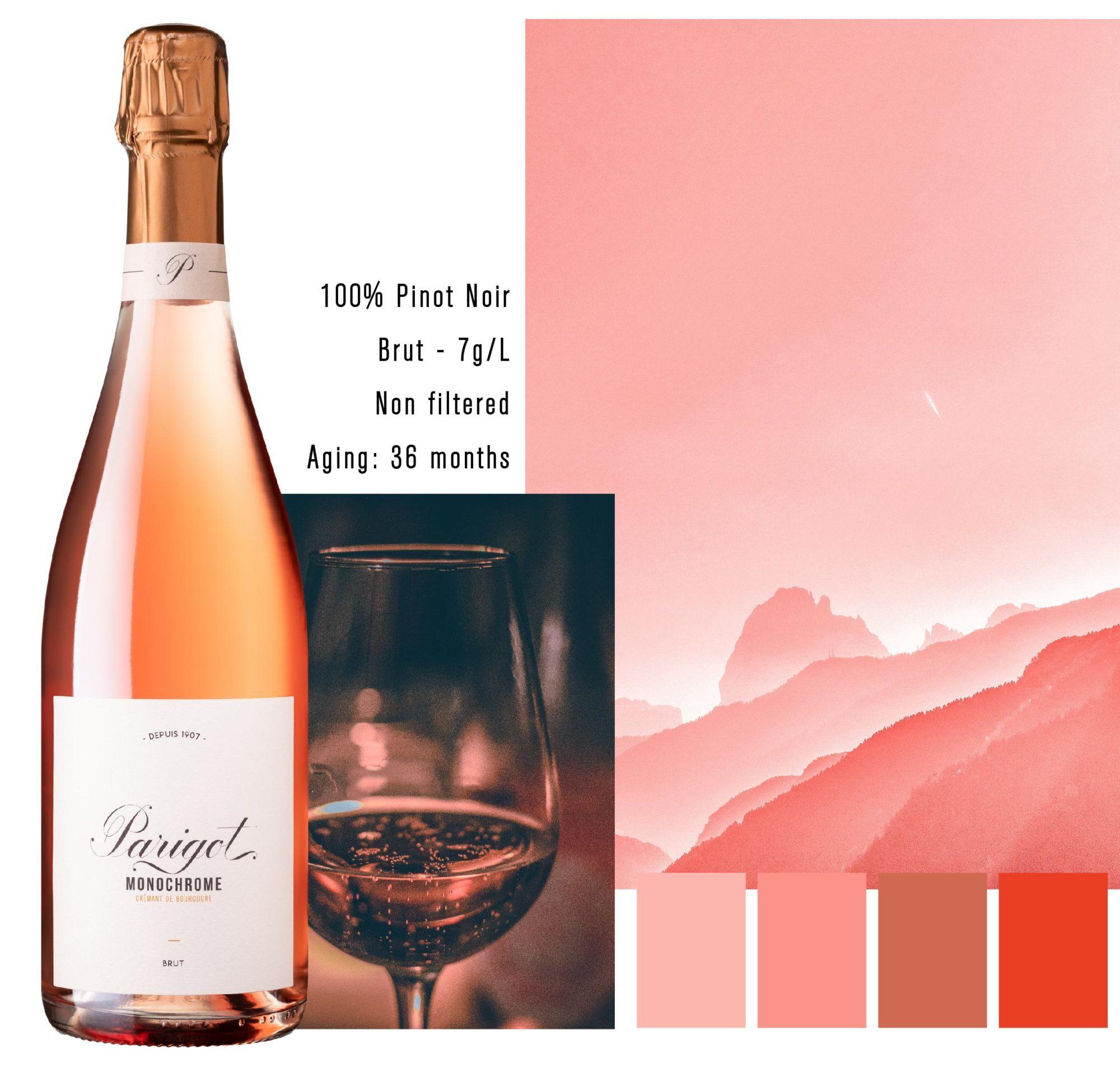 Parigot Monochrome rosé Pinot Noir